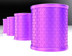 Triangulated Cup 3 pack Density Variations 3D Print ready