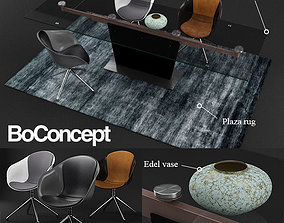 3D model BoConcept Monza table and Adelaide chair