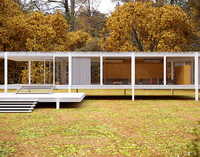 Farnsworth House 3D architect