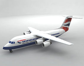 3D Avro RJ-100 - British Airways airliner