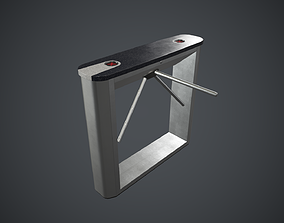Security Turnstile 2 PBR Game Ready 3D asset