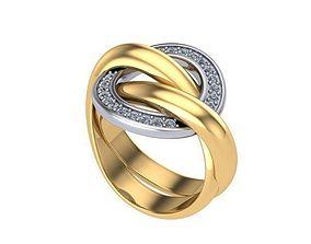 3D print model Double ring