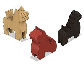 Japanese Toy Horses 3D printable model
