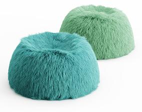 3D model Two Himalayan Faux-Fur Beanbag