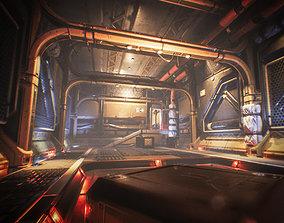Spaceship Interior Environment Set 3D model
