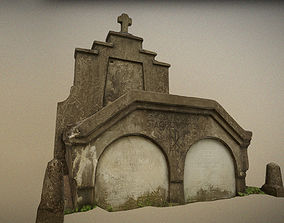 3D model Scanned photorealistic old crumbling crypt