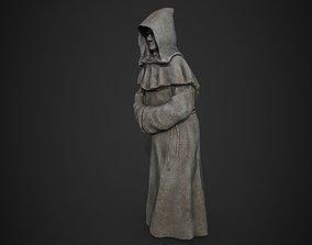 Monk Statue 3D asset