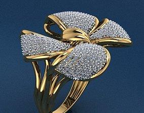 silver 3D print model Ring 37