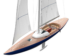 Leonardo yacht Eagle 44 BLUE ship 3D model