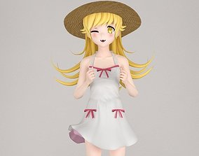 3D Shinobu anime girl pose 01