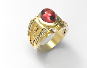 rings Ring Man red diamond 3D printable model