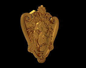 dekor lion-079 3d stl models for artcam and aspire