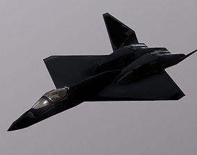 YF-23 Black Widow 3D Model realtime