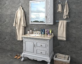 Classic Bathroom Furniture 3D