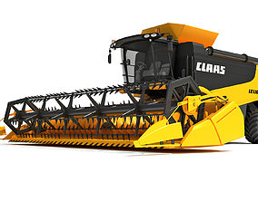 3D Combine Harvester Claas Lexion Models