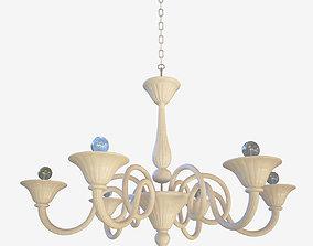 3D model chandelier Sylcom Dolfin 1382 6