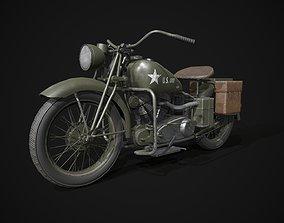3D asset Indian 741B motorcycle