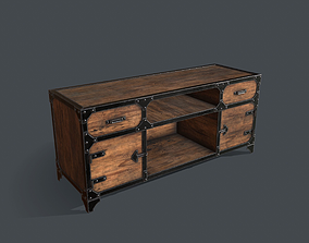 3D asset Industrial Style Media Console