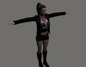 3D asset rigged Punk Ruby
