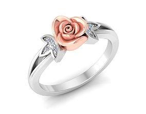 rosering Women Rose Ring 3dm stl render detail