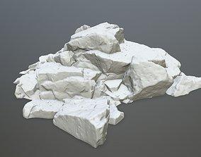 snow rock print