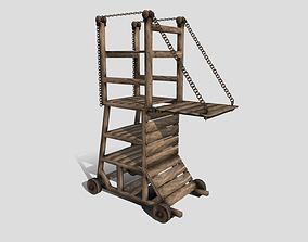 Medieval Siege Tower 3D asset