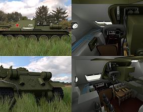 3D model SU 100 with Interior HDRI
