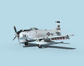 Douglas A-1H Skyraider USN Ticonderoga 3D model