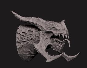 dinosaur Dragon Bust 3D print model