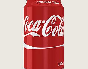 3D asset game-ready Coca Cola Drink Aluminium Can