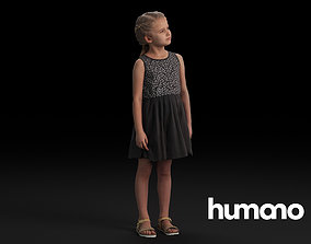 Humano Casual Child Standing and wlooking 0406 3D model