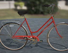 Vintage bicycle 3D cycling