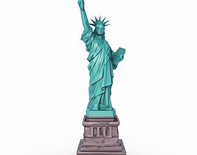 3D asset The Statue of Liberty Low Poly