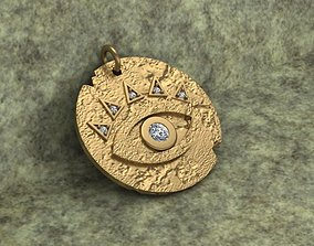 3D print model Evil Eye Coin Necklace
