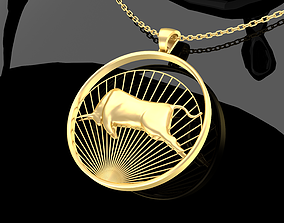 Matador Bull Pendant Jewelry Gold 3D printable model