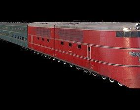 Breitspurbahn locomotive henschel 3D