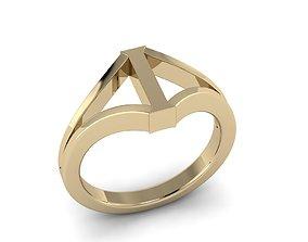 Jewelry Alphabet Ring I 3D print model