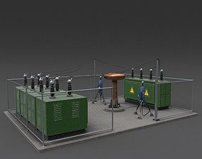 Generator 02 Weathered 3D asset