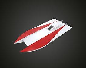 RC boat catamaran 3D printable model