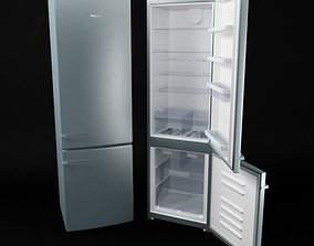 3D Modern Refrigerator With A Freezer
