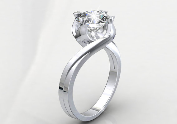 CD249 JEWELRY ENGAGEMEN RING STL FILE FORMAT FOR JEWELERS .