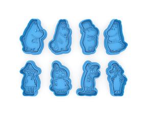3D print model Moomin Trolls cookie cutters
