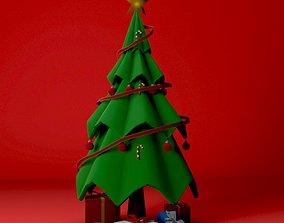 3D model VR / AR ready Christmas Tree