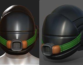 Gas mask helmet scifi fantasy armor 3D model 1