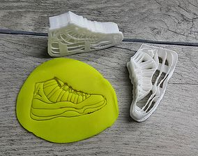 3D print model Jordan 11 cookie cutter