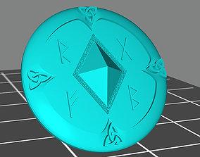 3D print model Wolf marine style viking storm shield 2