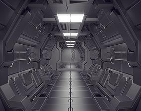 3D model Modular Sci-Fi Corridor kitbash set Science 2