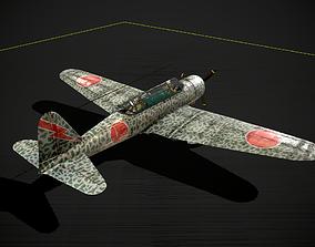 WWII Japanese Light Ki30 Bomber Ki-30 Type 97 3D model
