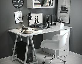 3D Work Desk Scandinavian