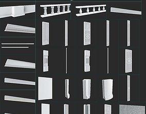 Plinths and columns 3D